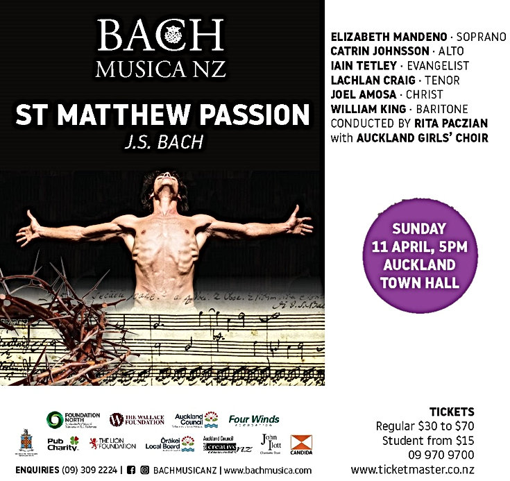 AGC to perform at Bach Musica NZ