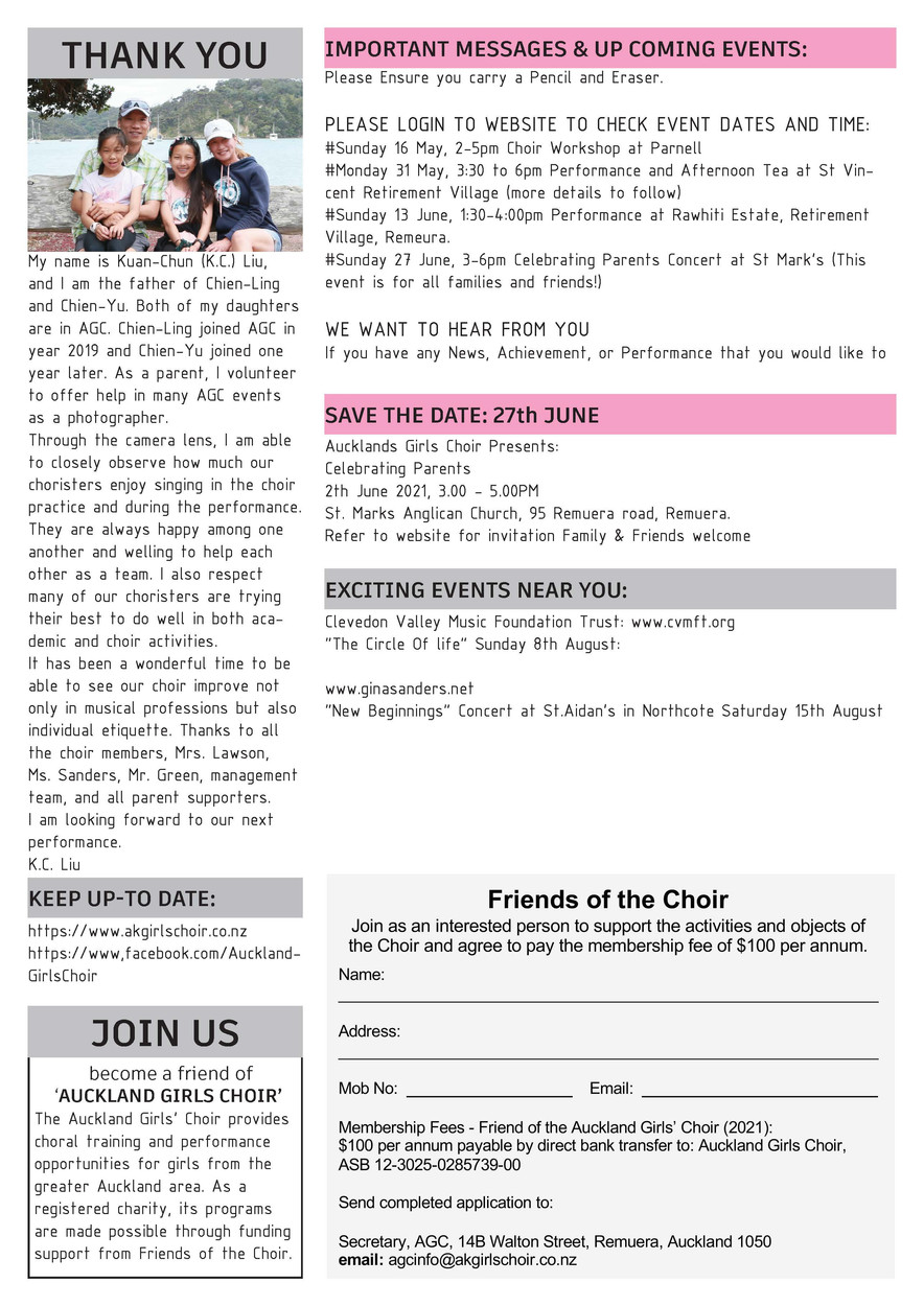 AGC Newsletter - 2021 May