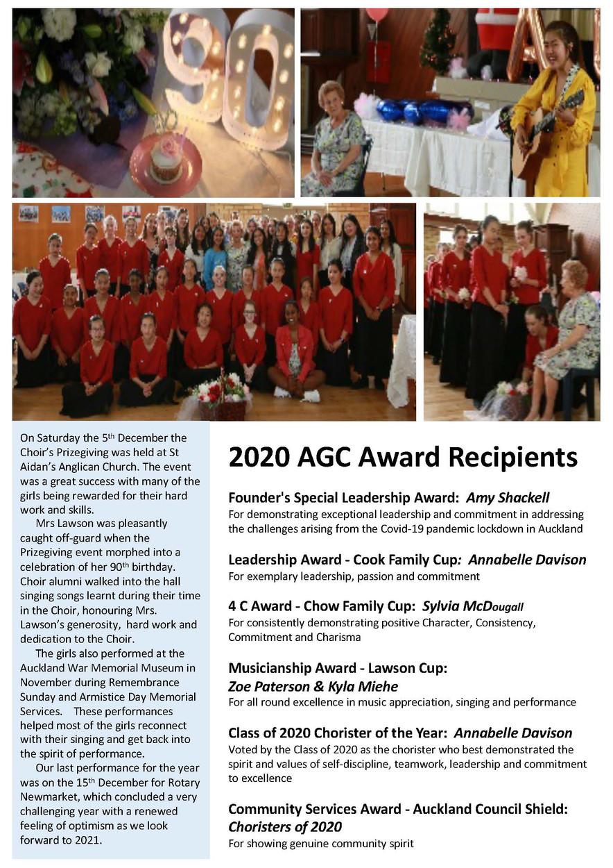 AGC Newsletter - 2020 December