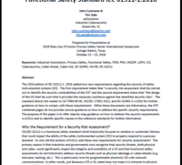 New aeSolutions whitepaper released on meeting the security requirements of IEC 61511-1
