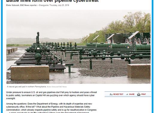 E&E News : Battle lines form over pipeline cyberthreat