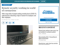 Remote Security Working in World of Coronavirus