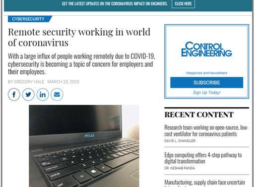 Remote Security Working in World of Coronavirus