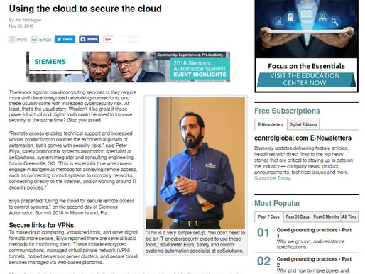 Using the cloud to secure the cloud – Control Magazine