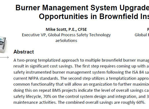 Burner Management System Upgrade Challenges and Opportunities in Brownfield Installations