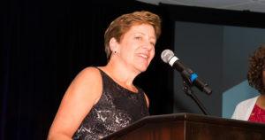 Kathy Shell receives ISA Leadership Award at 2016 Annual Gala in Newport Beach, CA.