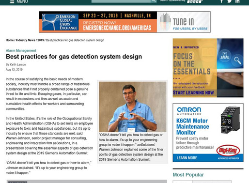 Best practices for gas detection system design