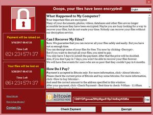 Ransomware example screenshot