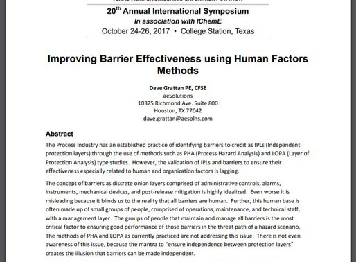 The top 5 reasons why people don't want to evaluate human factors and barrier reliability… but shoul