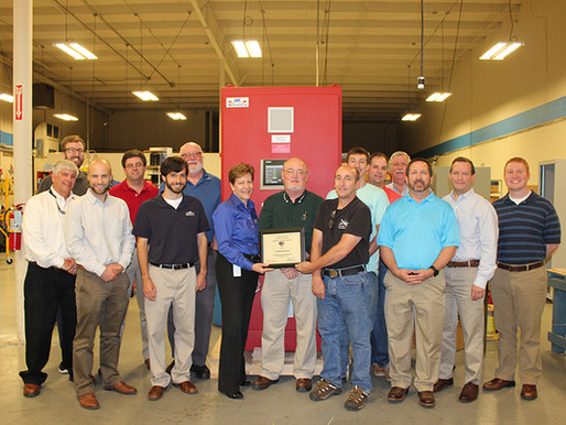 South Carolina Safety Award Presented to aeSolutions for Second Consecutive Year