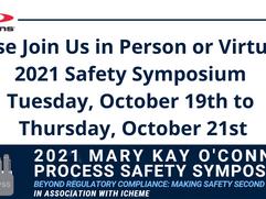 2021 Mary Kay O'Connor Process Safety Hybrid Symposium