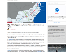 Major US fuel pipeline system shut down after ransomware attack