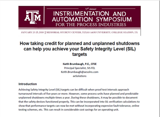 How taking credit for planned and unplanned shutdowns can help you achieve your SIL targets