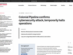 Colonial Pipeline confirms cybersecurity attack, temporarily halts operations