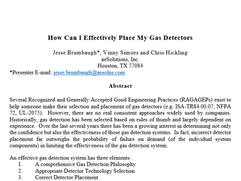 How Can I Effectively Place My Gas Detectors