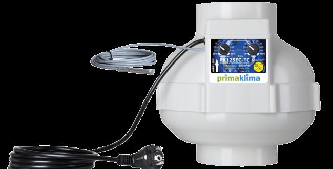 PK Rohrventilator 125 EC - TC, 680 m³/h, für 125 mm Rohr, Drehzahl- und Klimar