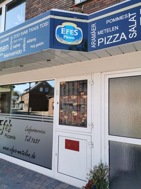 Schaufensterbeschriftung und Außenwerbung Efes Grill Metelen