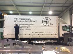 Fahrzeugbeschriftung LKW WST Ahaus