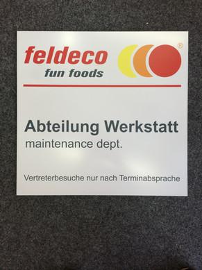 Feldeco Fun Foods Schild Alu-Verbund Platte