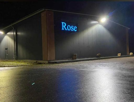 Maschinelles Pflastern Rose