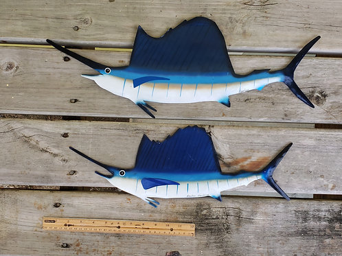 "Sail fish x 2 (19"" and  23"")"