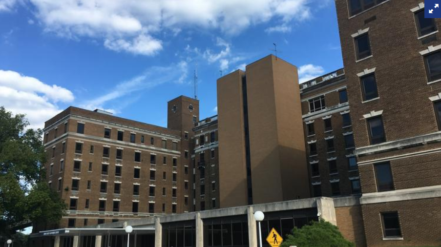 The Urban Government Center at 810 Barret Ave. is the anchor of a potential redevelopment. The city is now seeking new input on its use after the developer terminated a deal for a mixed-use development there.