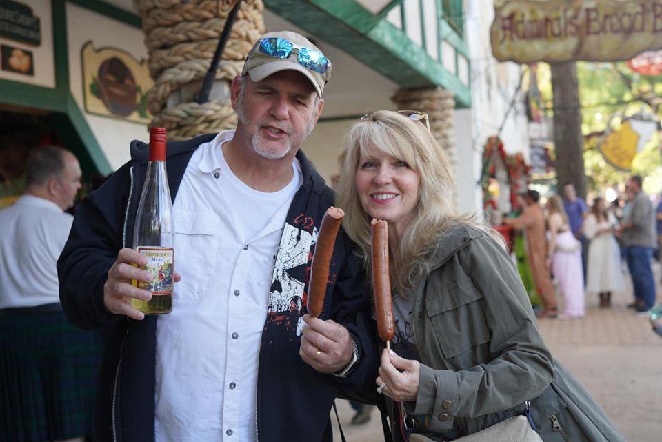 Sasuage on stick at Texas Renaissance Festival