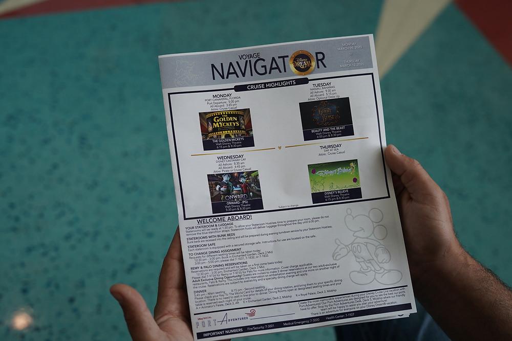 Navigator activities sheet