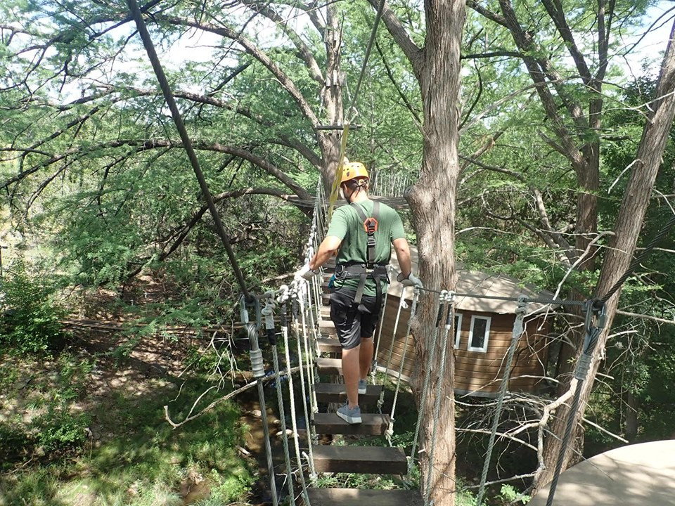 treehouse zipeline Cypress Valley Canopy Tour in Austin, Texas