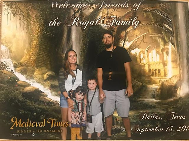 family picture at Medieval Times with Dinner & Tournament