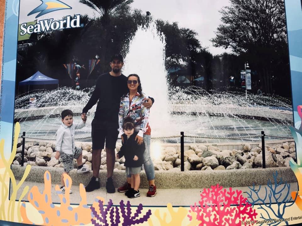Sea World family picture