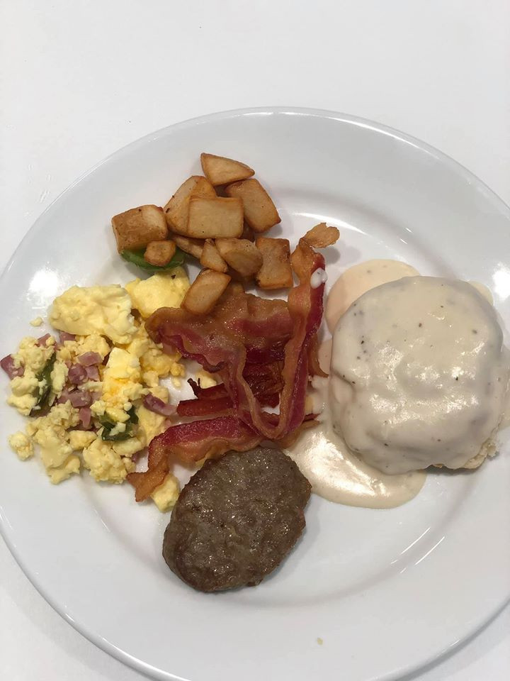 Breakfast at mbassy Suites by Hilton, The Woodlands at Hughes Landing