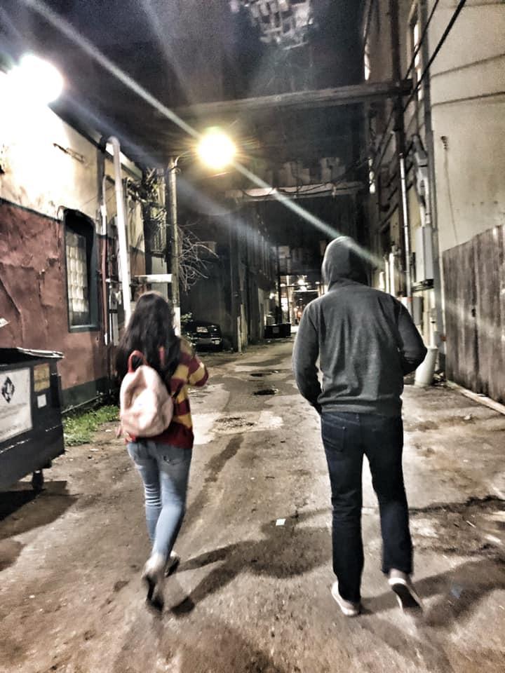 back alleys in Galveston