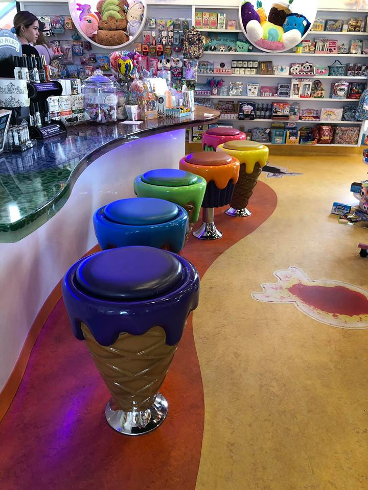 inside candy store in orange county