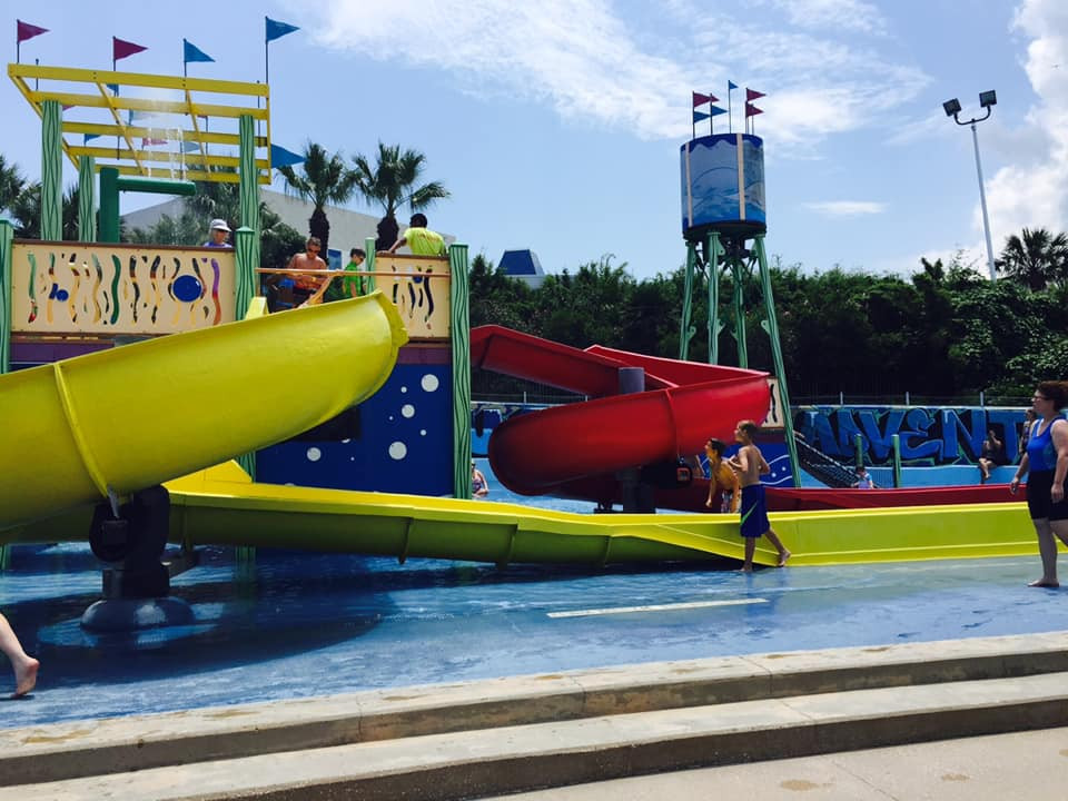 Slides at Palm Beach Water Park