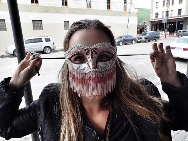 Mardi Gras mask in Galveston