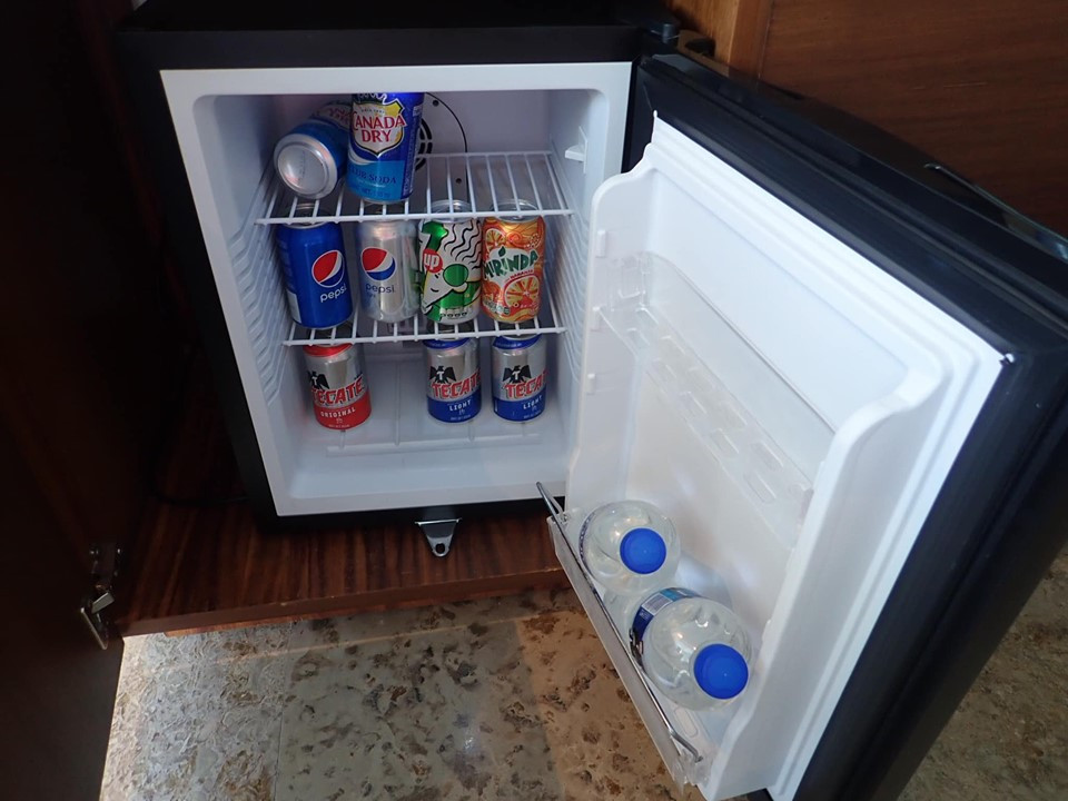 fridge in room at Reflect Krystal Grand Los Cabos