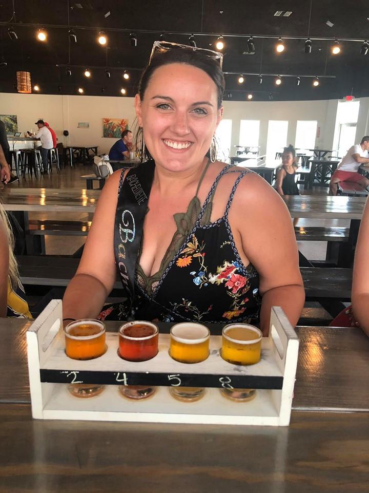 Flight of Beer at Nueces Brewery
