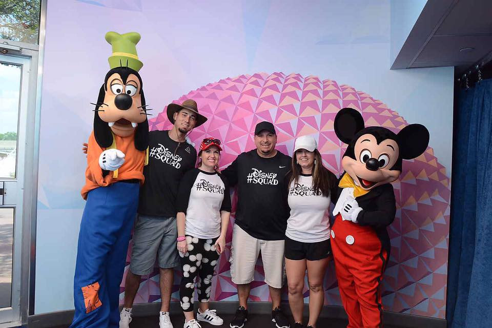 Picture with Mickey Mouse