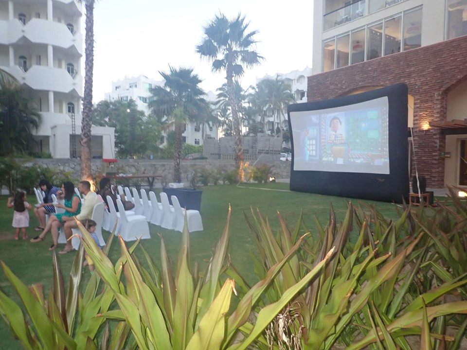 movie night at reflect resort in cabo