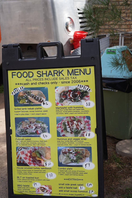 Food Shark Menu