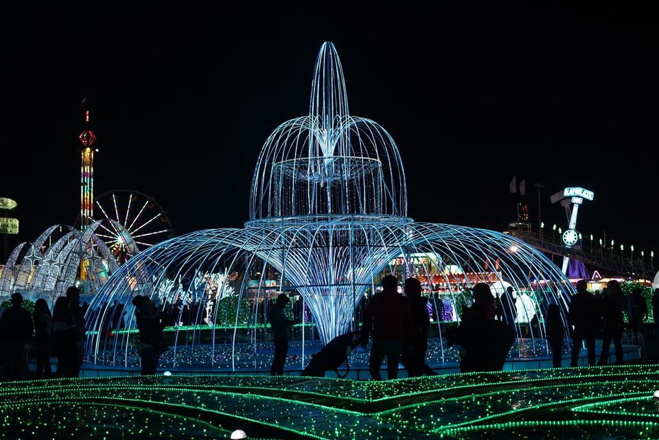 Fountain at Magical Winter Lights in Houston