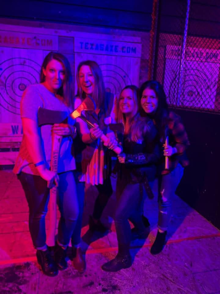 Texas Axe Throwing, Spring, TX- Girls Weekend Getaway