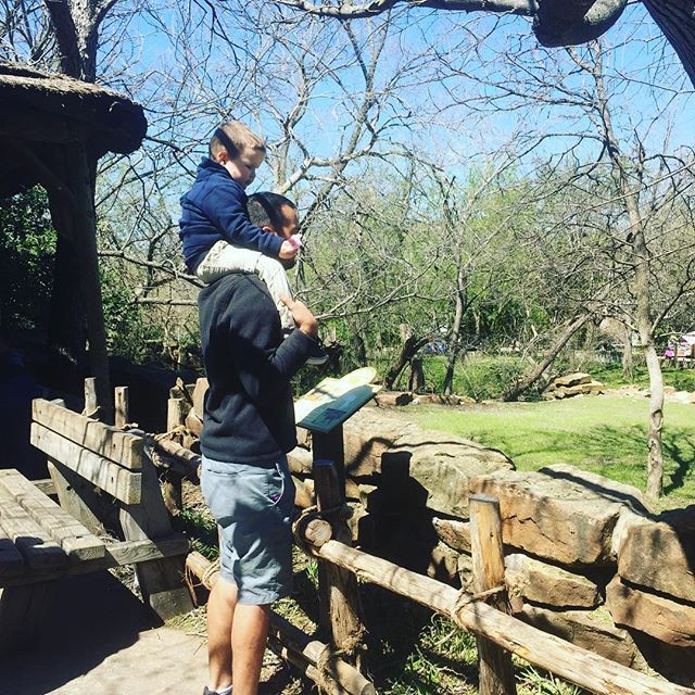 dad and son at Fort Worth Zoo