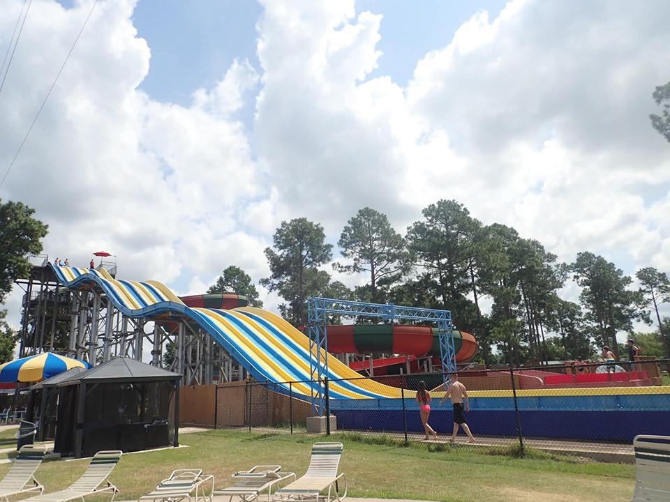 older kid slides at jellystone park