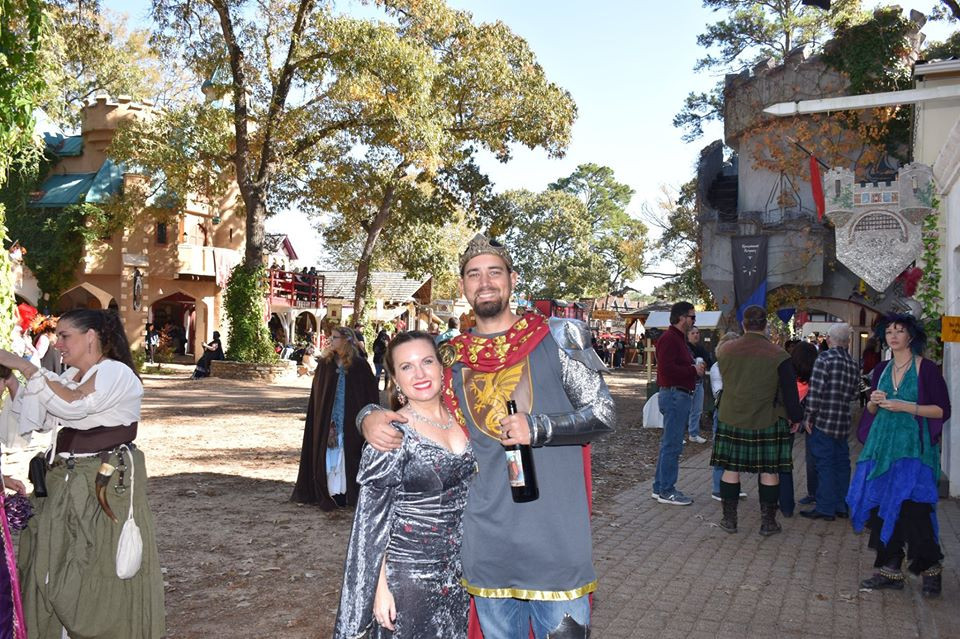 King and Queen at Texas Renaissance Festival
