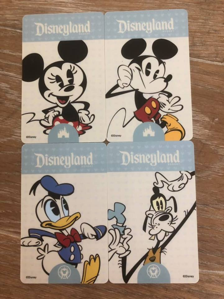 disneyland park cards