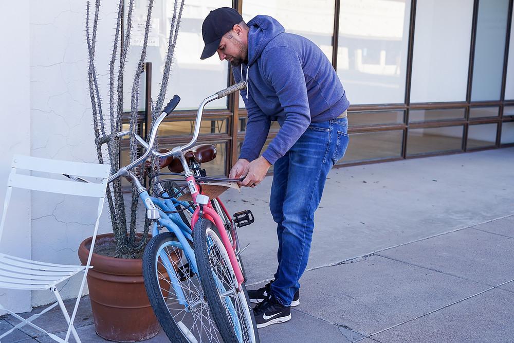 Biking to dinner