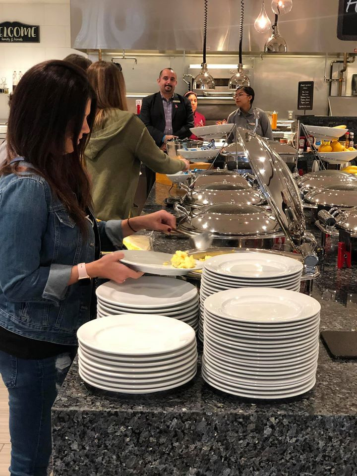 Breakfast Buffet at mbassy Suites by Hilton, The Woodlands at Hughes Landing