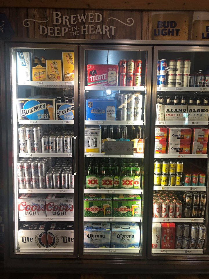 Beer at Jellystone Park Convenience Store